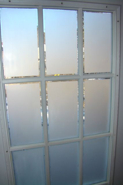 Frosted glass on french doors french frosted glass and for Opaque garage door