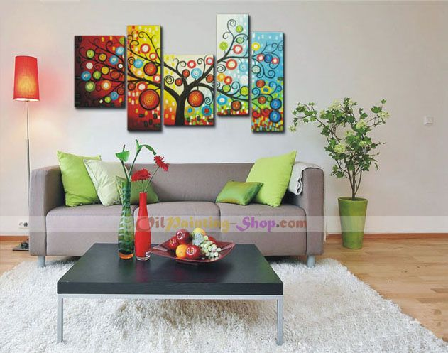 365 Days of Happiness Tree Oil Painting