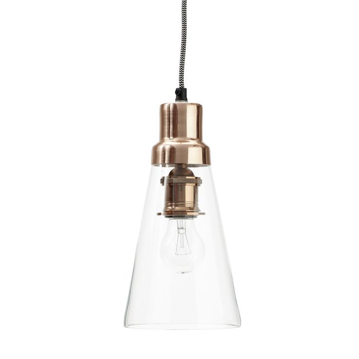 Glass and copper lamp. Product number: 320104 - Designed by Hübsch.