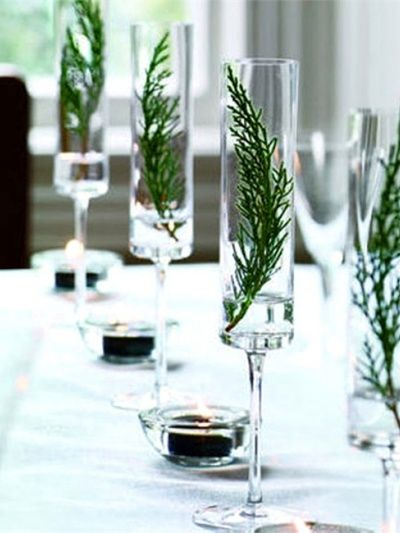 maplantemonbonheur.fr verrine plante table decoration noel