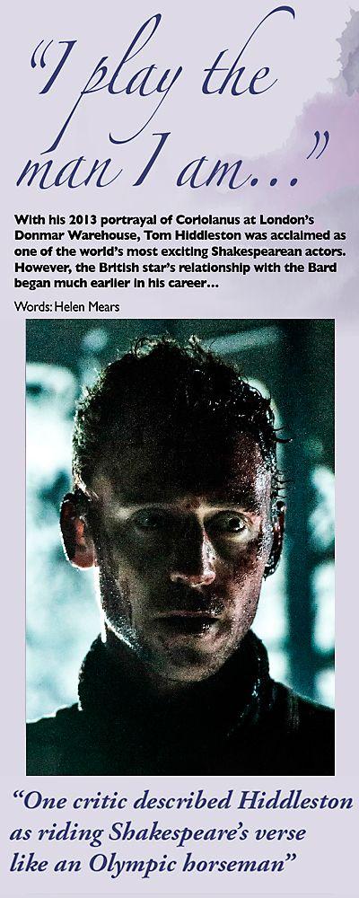 Tom Hiddleston as Coriolanus, Shakespeare Magazine 09. Magazine scans: http://maryxglz.tumblr.com/post/135874125652/shakespeare-magazine-09-source-via Source: http://issuu.com/shakespearemagazine/docs/shakespeare_magazine_09