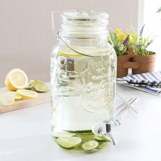 Słój na napoje z kranikiem szklany TRANSPARENT 4 l