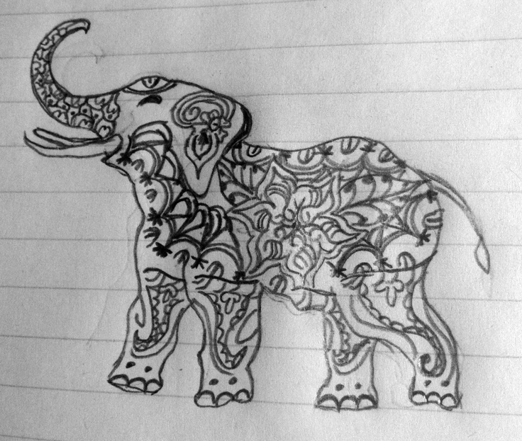 Mehndi Elephant Meaning : Elephant tattoos and designs tattoo meanings