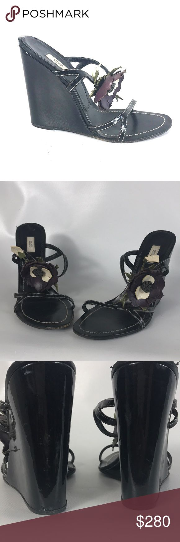 ❤️ SALE Prada lady shoes with flowers size 10 Condition 8/10 , normal amount of scuffs around both shoes from normal wear, great shape, size 10, European 40 , heel height 5', you must have these beauties! Ask questions ❤️ Prada Shoes Platforms