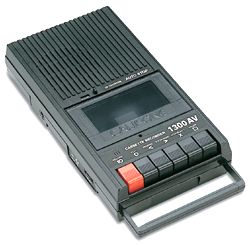 Cassette Recorder Taping your favorite songs to a cassette from the radio.