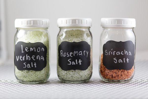DIY Salts - Lemon Verbena, Rosemary, and Sriracha