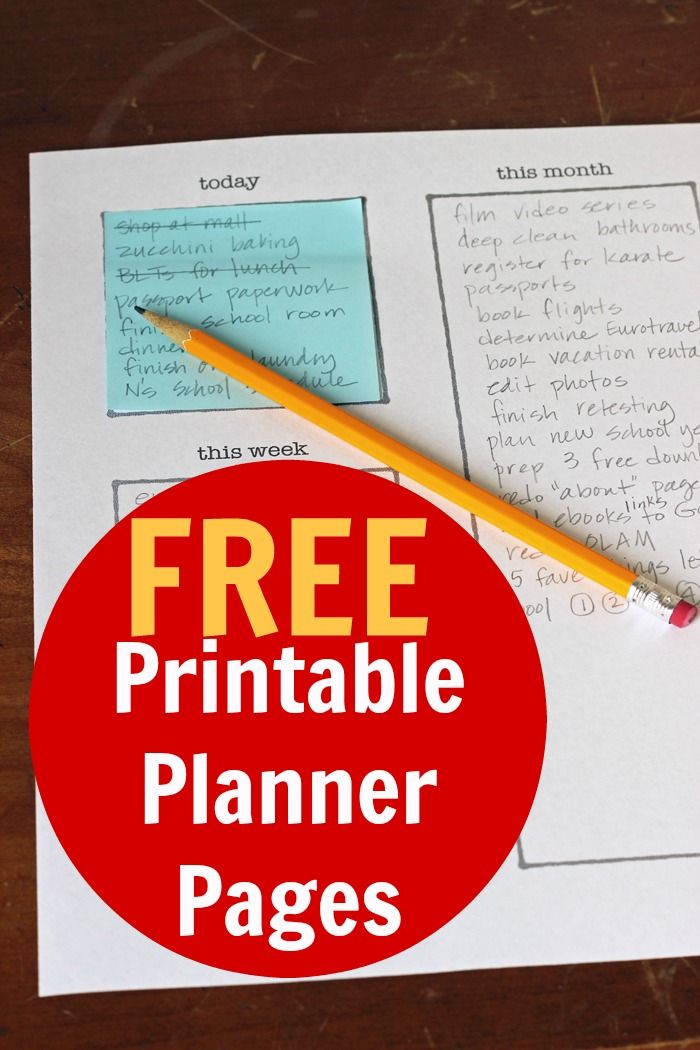 Free Printable Planner Pages from Life as Mom - Feeling frazzled? Check out these free printable planner pages as your gateway to organization and peace.