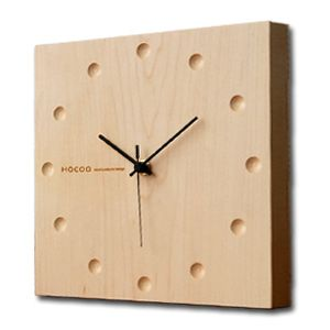 Hacoa hacoa wall clock, wall clock / natural wood solid natural wood simple Japanese style modern stylish Scandinavian スイーブムーブメント static or living bedroom dining table lamps wall rectangle Maple H151-M . Buy today at http://amzn.to/2jnilFg