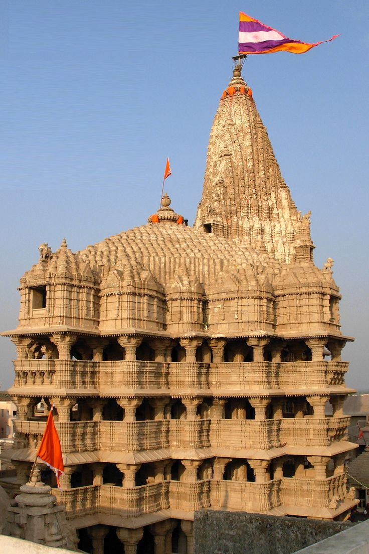 Ancient Dwarka Hindu Temple - Gujarat, India