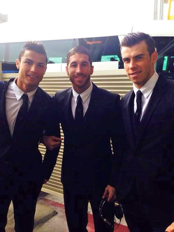 Cristiano Ronaldo, Sergio Ramos, & Gareth Bale sexy handsome animal magnetism of Bale!!! GOODness!