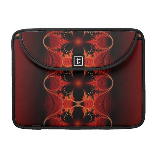 #Floral Ribbon #Abstract #Fractal Art Sleeve For #MacBook