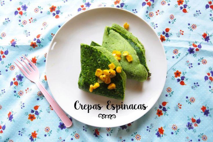 Como Preparar Crepas de Espinacas on Cocina Sana