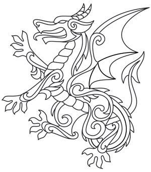 Gilded Heraldry - Dragon design (UTH7835) from UrbanThreads.com