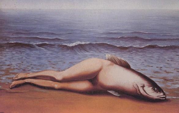 René Magritte - Le poisson (ou l'invention collective) - (1935)