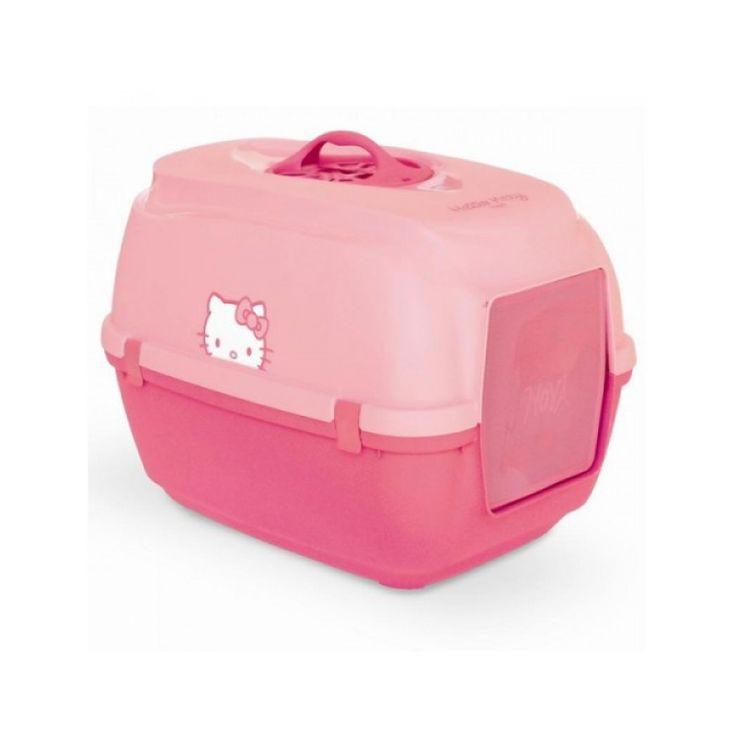 Gatera Arenero de Hello Kitty para gatos, con tapa y filtro antiolores.  Tamaño: 56x40x50,5 cm  Producto Oficial Hello Kitty.  Esta bandeja ...