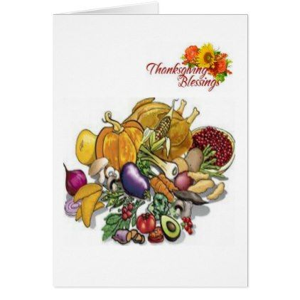 Thanksging Greeting Card - holiday card diy personalize design template cyo cards idea