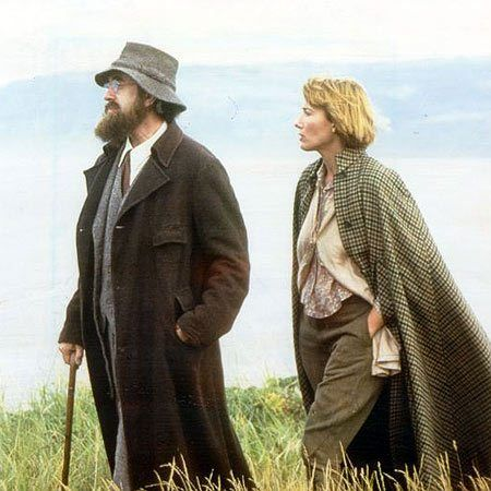 Carrington - 1995 film depicting the complicated love lives of the Bloomsbury Group, starring Emma Thompson and Jonathan Pryce