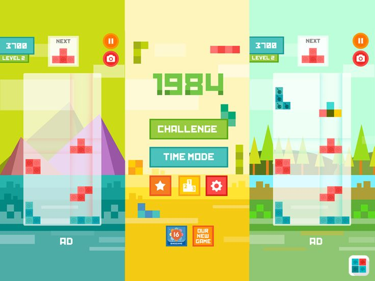 Tetris Flat IOS Game