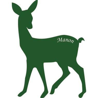 Cadeau malin: Stickers personnalisés biche
