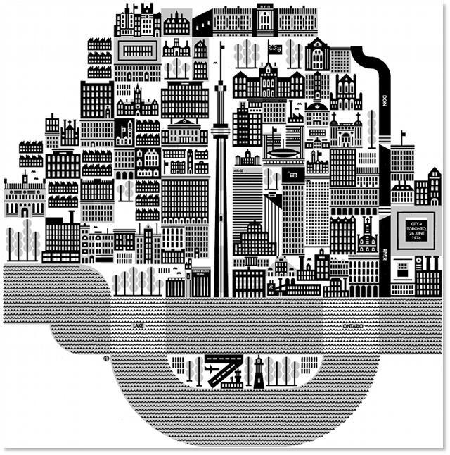 City of Toronto #art #map via Torontoist.com