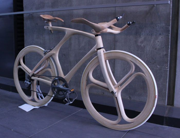 Sculptural Japanese Wooden Bike Sports Serious Curves With Images