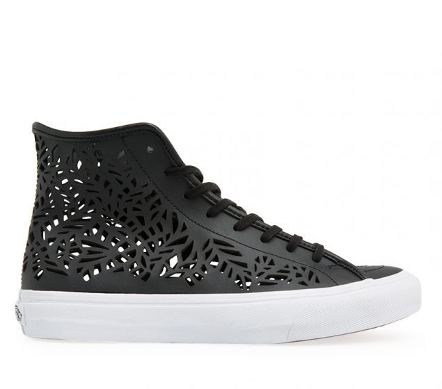 Vans Sk8-Hi Decon (Cutout) | Cut-Out Leaves/Black | Platypus Shoes