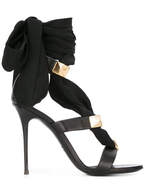 Shop Giuseppe Zanotti Design ribbon stiletto sandals♥♥