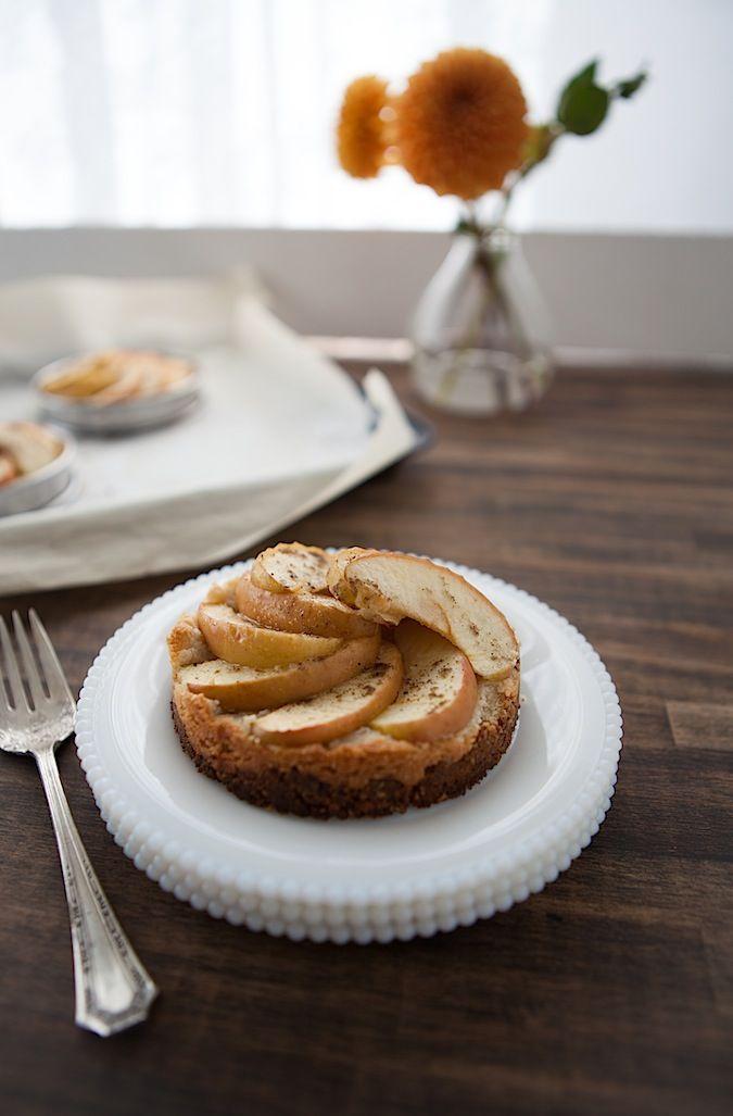 Vegan Apple Tart with a rolled oat crust and vegan Frangipane. #baking #recipe