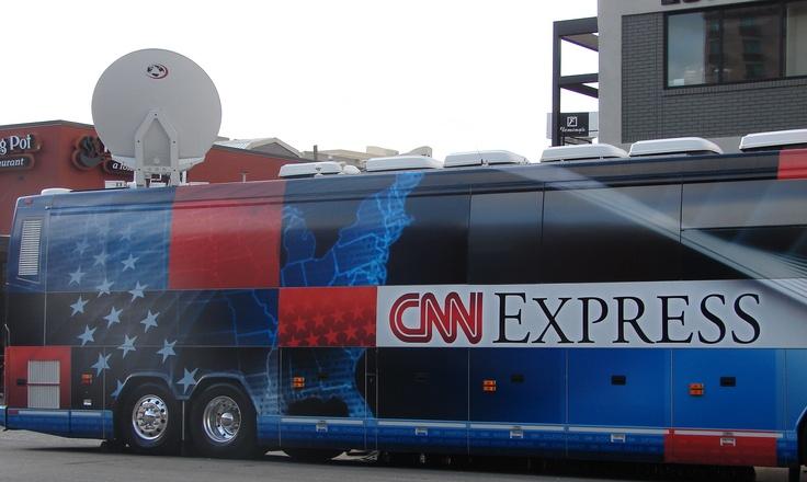 CNN Election Bus