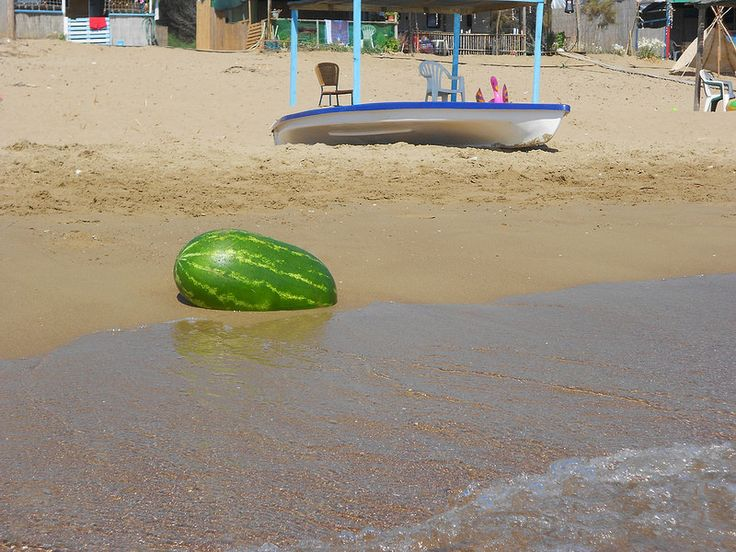 Watermelon by the sea!