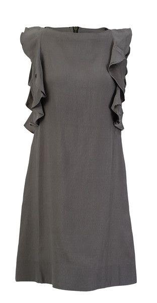 Sanctuary Grey Sheath Ruffle Sleeveless Dress SZ S  $50.00  #LoveThatCloset #Designer #Consignment #Sale #Dress