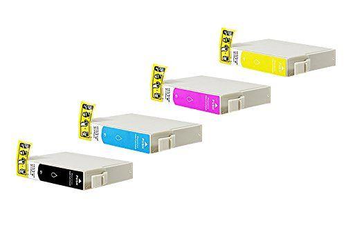 Compatible pour Epson WorkForce WF-2750 Cartouche d encre Promo Pack Cyan/Magenta/Jaune/Noir C13T16314010 – C13T16344010 Nr 16 1 x 15,6 & 3…