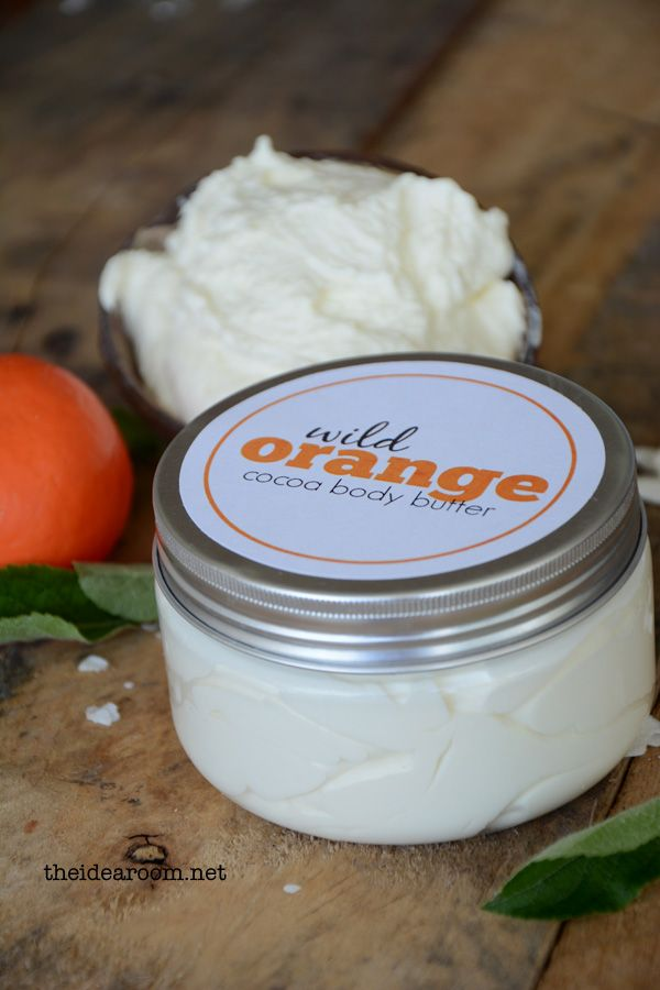 Wild Orange Body Butter Recipe and Free Printables | theidearoom.net