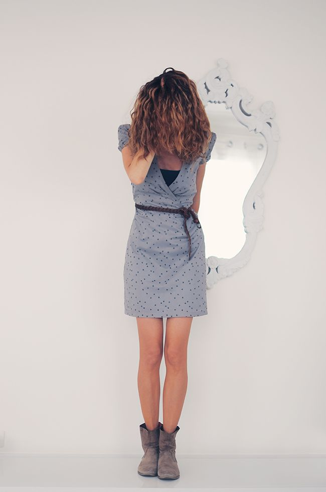 robe cache coeur Vanessa Pouzet avec le tissu remember me Atelier Brunette