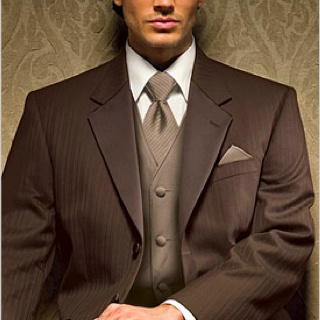 Like this fall brown suit nice change from the usual - Brauner hochzeitsanzug ...