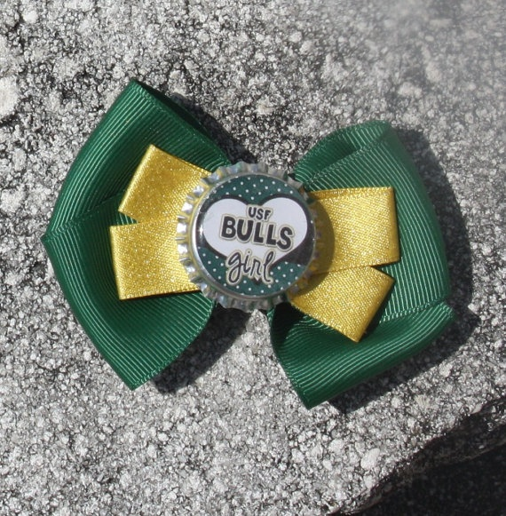 USF University of South Florida USF Hair Bow Bow for by bowsforme, $6.00: Usf Hair, Hair Bows