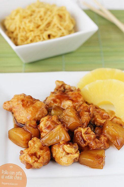 Un cítrico y sabrosito pollo con piña. | 16 Deliciosas recetas de comida china que puedes hacer en casa