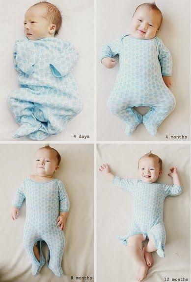 Fotos para registrar o crescimento do bebê | Macetes de Mãe