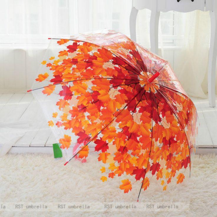 2017 Fashion  Tree Shade Umbrella Rain Women Long Handle Umbrella  PVC Umbrella transparent Umbrella #Affiliate