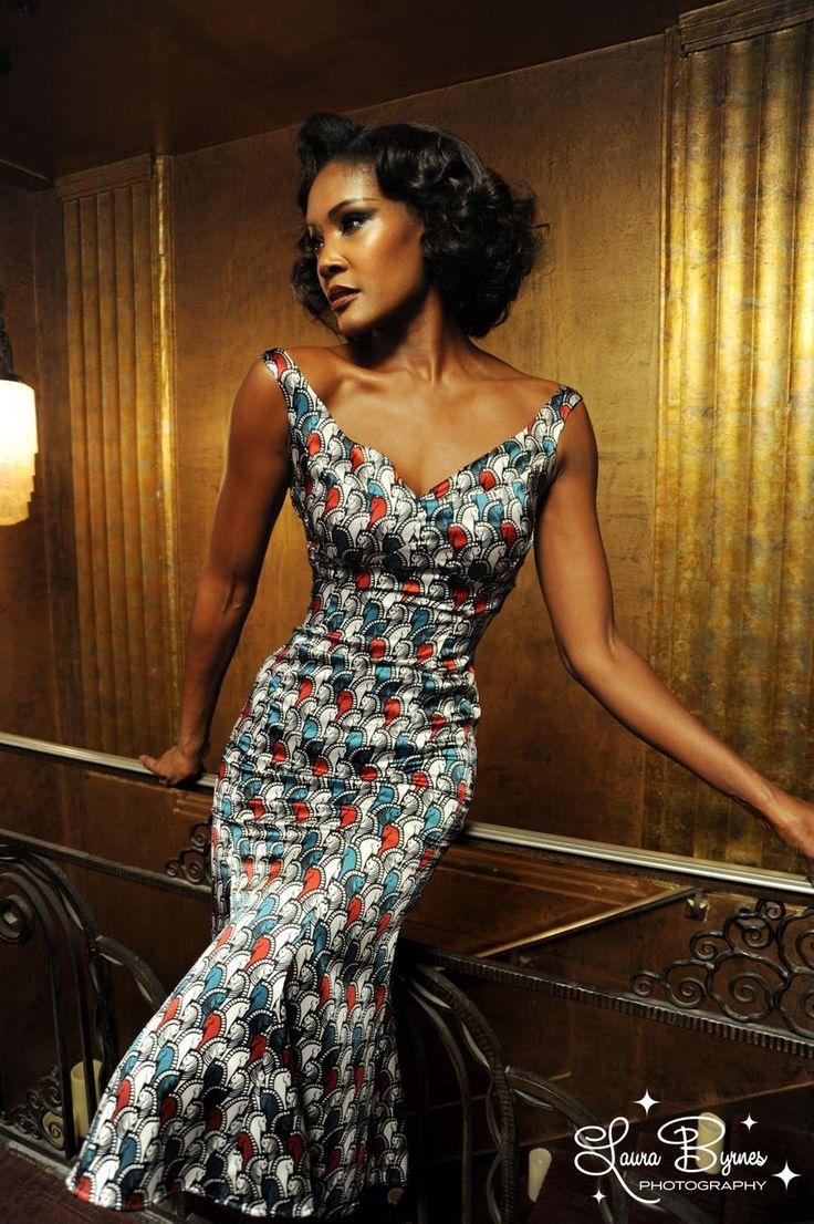 Tamara Dress in Deco Horses Stretch Silk  #AfricanPrints #kente #ankara #AfricanStyle