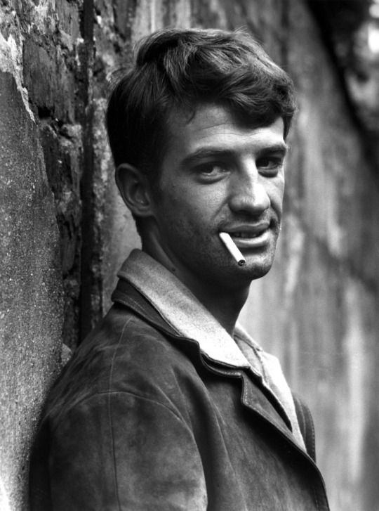 """Jean Paul Belmondo the day of the first test shoots for """"A Bout De Souffle""""       ( Breathless ), directed by Jean-Luc Godard ,  1959  by  Raymond Cauchetier"""
