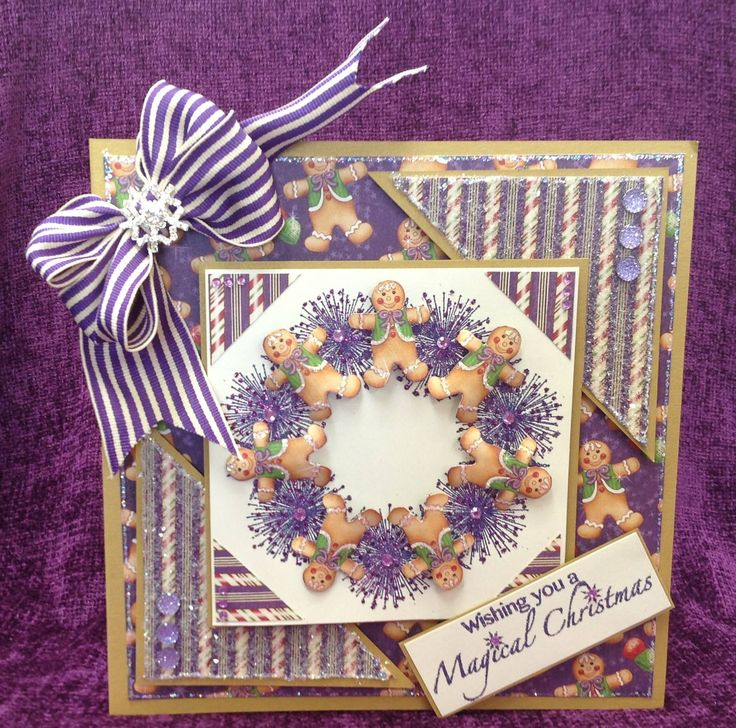 Card made by Chloe using Stamps by Chloe Starburst Wreath Stamps by Chloe Magical Christmas Stamps by Chloe Persian Indigo WOW Powder Graphic 45 Gingerbread Paper