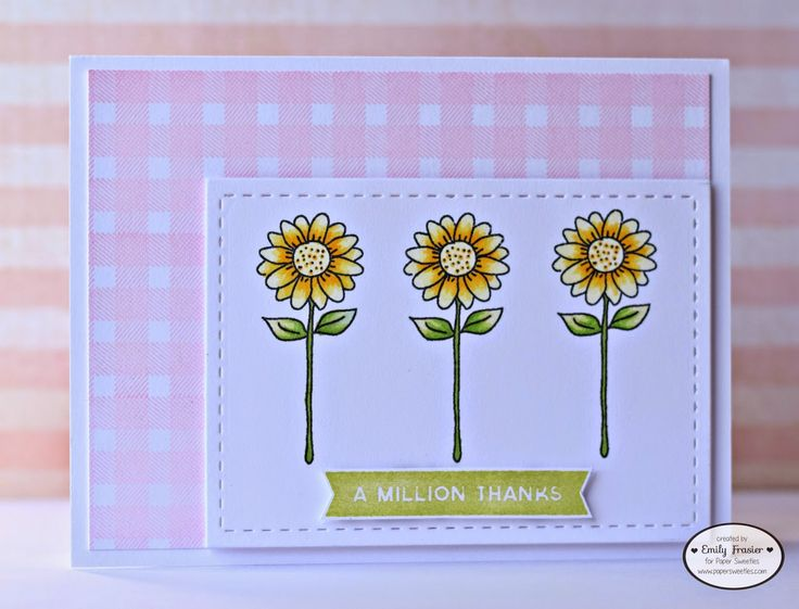Paper Sweeties, PiecesbyEmily, Emily Frasier, card making, handmade card, clear stamps, thank you card