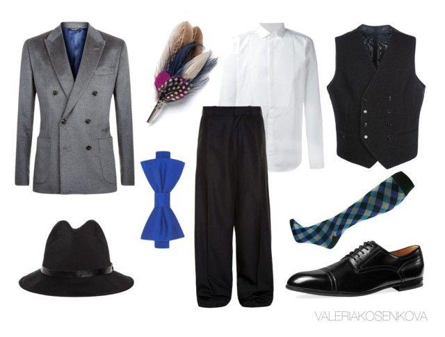 Jazz. Двубортная тройка. Широкие брюки, часто еще и укороченные и заправленные в носки с ромбами.   Если у тебя есть классический костюм, считай, повезло. Обязательно уложи волосы на косой пробор с щедрым количеством геля. И вперед – танцевать чарльстон!