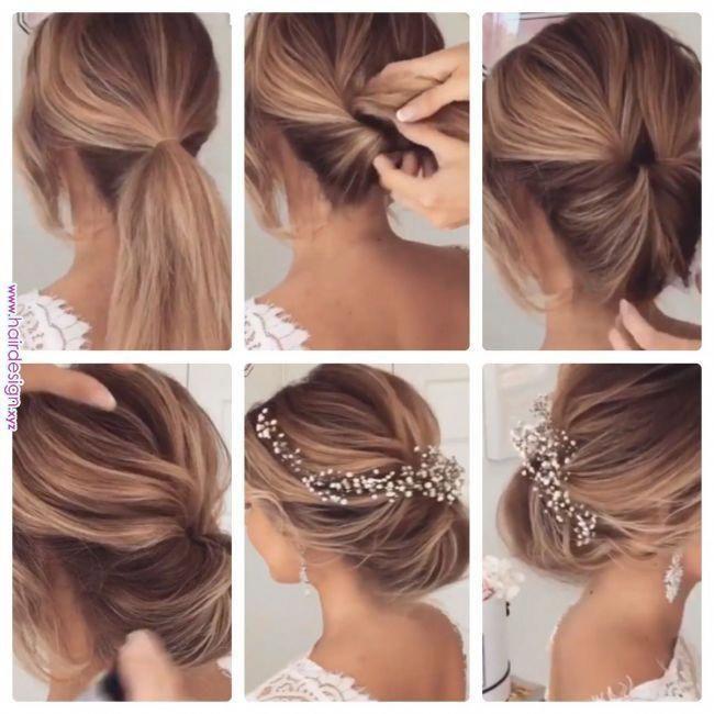 Pin By Tintus On Pitkat Hiukset In 2019 Pinterest Hair Styles Hair And Short Hair Styles Shortcurlyha Short Hair Updo Long Hair Styles Short Wedding Hair