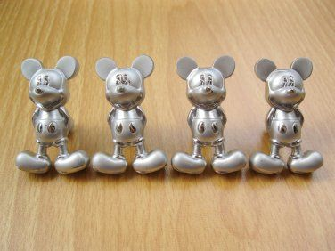 Mickey Mouse Metal Kitchen Cabinet Door Knobs Drawer Pulls Handles Furniture Hardware Decors, 4 pcs