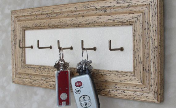 Now You'll Know Where Your Keys Are A beautiful by CiracoFramers on Etsy Beautiful Keyholder or Keyhook