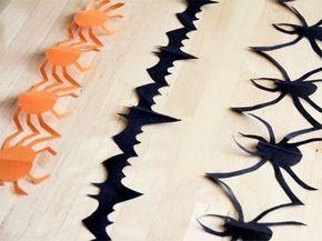 Cómo hacer una guirnalda para Halloween
