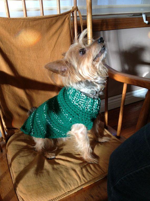 Holiday dog sweater FREE SHIPPING by WarmDoggies on Etsy