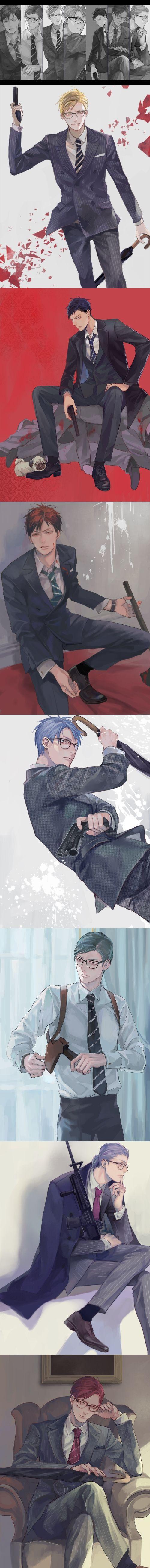 Kiseki no Sedai and Kingsman crossover